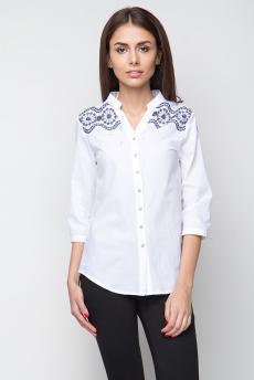 Блузка с вышивкой на плечах Marimay со скидкой