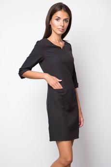 Строгое черное платье Marimay