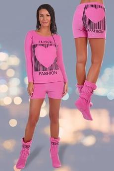 ХИТ продаж: махровый костюм: свитшот, шорты и сапожки Натали