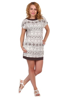 Простое короткое платье ElenaTex со скидкой