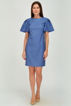 Синее платье в горошек Viserdi