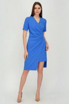 Голубое платье с асимметричным кроем Viserdi